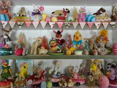 Easter stuffed, fabric animals collection