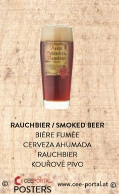 RAUCHBIER / SMOKED BEER BIÈRE FUMÉE  CERVEZA AHUMADA RAUCHBIER KOUŘOVÉ PIVO Shot Glass, Bottle, Tableware, Food, Smoker Cooking, Ale, Wine, Foods, Dinnerware