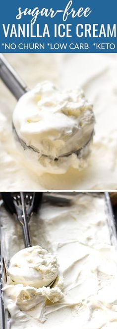 This no churn recipe for Sugar Free Low Carb Ice Cream is easy to make with all healthy, gluten free keto-friendly ingredients. Keto Friendly Ice Cream, Keto Friendly Desserts, Low Carb Desserts, Low Carb Recipes, Dessert Recipes, Dessert Ideas, Lunch Recipes, Dinner Recipes, Freezer Recipes