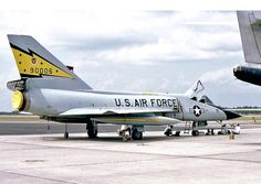 A USAF Convair F-106A Delta Dart sits on the ramp at Tyndall AFB.  1980