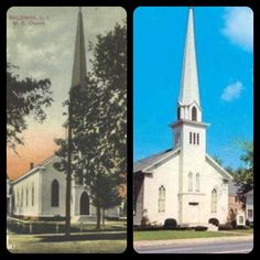#FlashbackThursday: In 1871 the cornerstone for First Church Baldwin United Methodist was laid. The spire, hand-built by the ancestors of current members, was a South Shore landmark often used as a beacon by ships at sea. The church has been preserved for over 140 years, and continues to add charm to our downtown area on Merrick Road.— In Baldwin, NY.