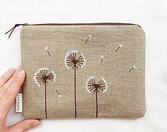 Obal na knihu - Kvitnúca tráva (natur 100% ľan) / Lesiavelin - SAShE.sk - Handmade Papiernictvo Lany, Burlap, Reusable Tote Bags, Hessian Fabric, Jute, Canvas