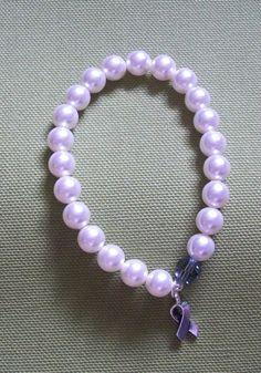 Esophageal Cancer Awareness Bracelet by ArrighiOriginals, $10.00