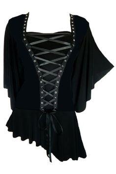 Fashion Bug #Victorian Gothic Women's Plus Size Alchemy Corset Top www.fashionbug.us #plussize #fashionbug #vintage #gothic