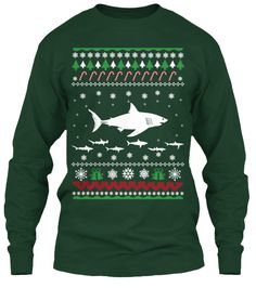 Shark Christmas Sweater Style Printed Tee - Last Day to Order!