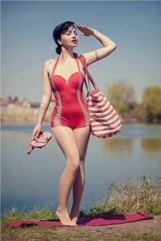 pin-up, swimsuit