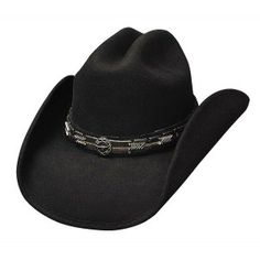 """From the Cowboy Cool Collection: Pass the Buck. Made of Premium Wool with a 3 7/8"""" brim and cattleman crown this hat is a best seller! This hat is shapeable and includes a black hat band with a silver colored conchos."""