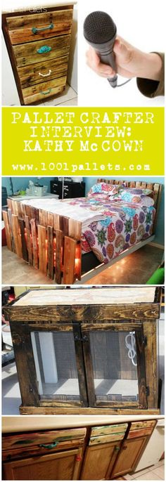 #Crafter, #Interview, #RecyclingWoodPallets Today, we had the chance to ask some questions to Kathy McCown, Crafterfrom Orange Grove in Texas (USA)who specializes in making all kind of beautiful furniture from recycled wooden pallets. If you think you deserve to be featured in the next