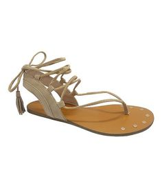 Another great find on #zulily! Natural Tie Clover Sandal #zulilyfinds