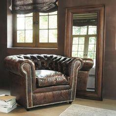 this armchair. Sillón cuero marrón Chesterfield Vintage,