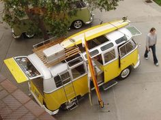 Aerial Photo of a VW Bus