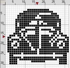 VW bug x-stitch Small Cross Stitch, Cross Stitch For Kids, Cross Stitch Charts, Cross Stitch Embroidery, Cross Stitch Patterns, Crochet Toys Patterns, Quilt Patterns Free, Stuffed Toys Patterns, Animal Skeletons