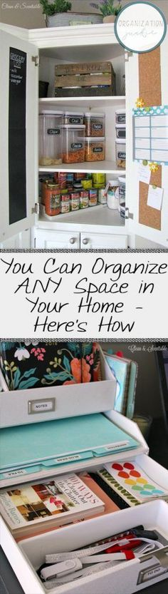 You Can Organize ANY Space in Your Home – Here's How  How to Organize Your Home, Home Organization Hacks, Organization for the Home, How to Organize Everything, Organization, Organization 101, Popular Pin