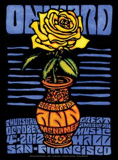 Wes Wilson - Moonalice poster : A Celebration of Ann McNamee's Musical Life at Great American Music Hall, San Francisco, 2012 Wes Wilson, Wilson Art, Rock Posters, Concert Posters, Art Posters, Victor Moscoso, San Francisco, Kunst Poster, Vintage Rock