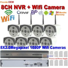 478.13$  Buy here - http://alilss.worldwells.pw/go.php?t=32596925472 - Full HD Waterproof outdoor 1080P Wifi camera and 8ch network ip camera recorder NVR Support 2.0mp p2p onvif night vision reset 478.13$