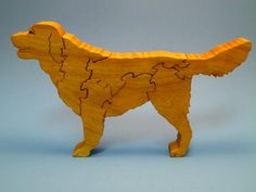 Wooden Golden Retriever Scroll Saw Wood Dog Puzzle