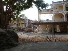 Hurricane damaged old Melaque Hotel