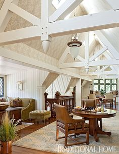 The ceiling was raised and skylights were added to create a sunny and welcoming living space in the attic. - Photo: Emily Minton Redfield / Design: Rochelle Warner