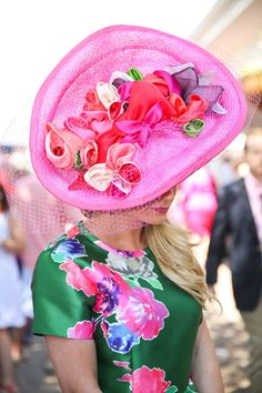Cara Drury Wilson, Stylist and Retail Manager Kentucky derby hat by Christine A Moore, NYC Kate spade floral dress Kentucky derby, Kentucky oaks fashions style Kentucky Derby Fashion, Kentucky Derby Outfit, Derby Attire, Derby Outfits, Races Fashion, Fashion Hats, Derby Dress, Derby Day, Fancy Hats