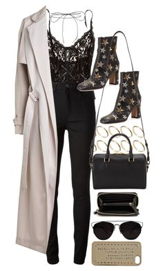 Untitled #9408 by nikka-phillips on Polyvore featuring polyvore, moda, style, By Malene Birger, Acne Studios, Hanky Panky, Valentino, Yves Saint Laurent, MANGO, ASOS, Lilou, Marc by Marc Jacobs, fashion and clothing