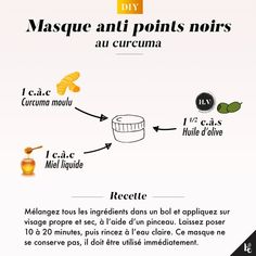 The moment tutorial: Turmeric mask anti blackheads- L'instant tuto : Masque au curcuma anti points noirs This beauty secret is effective against blackheads, acne, redness, wrinkles and small skin problems! Beauty Care, Diy Beauty, Beauty Hacks, Beauty Tips For Face, Beauty Secrets, Face Tips, Turmeric Mask, Magical Makeup, Homemade Cosmetics
