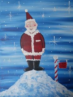 """KIDS PAINTING """"Jolly Saint Nick"""" 1 hr painting now available for classes"""