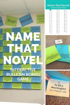 Check out this interactive bulletin board GAME for American Lit class!