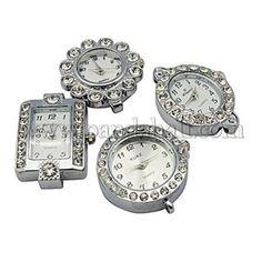 Alloy Rhinestone Watch Face Watch Head Watch ComponentsWACH-H001-1-1