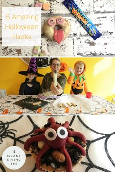 5 amazing halloween hacks for 5 yummy and spooky snacks. Easy and very simple to make. Step by step instructions and guide with video.