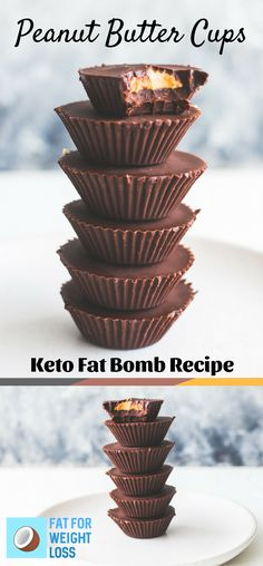 Keto Peanut Butter Cups – Chocolate Fat Bomb Recipe via FatForWeightLoss sugar free cookies easy; Healthy Recipes, Ketogenic Recipes, Keto Recipes, Ketogenic Diet, Muffin Recipes, Flour Recipes, Ketogenic Lifestyle, Snacks Recipes, Coconut Recipes
