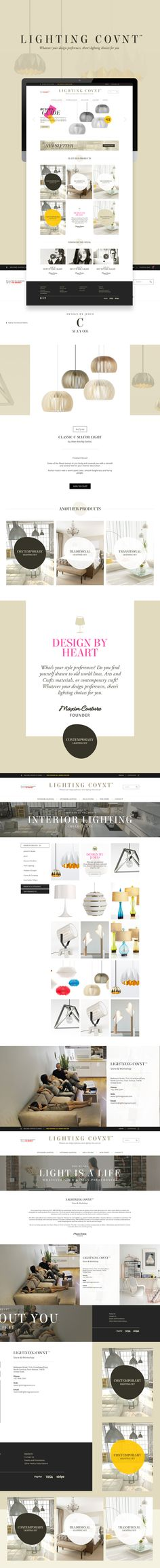 Lighting Covnt™ - Web Interface by Firman Suci Ananda, via Behance