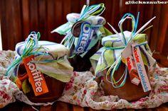 glückszauber : Süßes Essenspaket: Lieblingssüßigkeiten-Aufstriche (Oreo-Aufstrich, Kinderschokolade-Aufstrich und Toffifeeaufstrich)