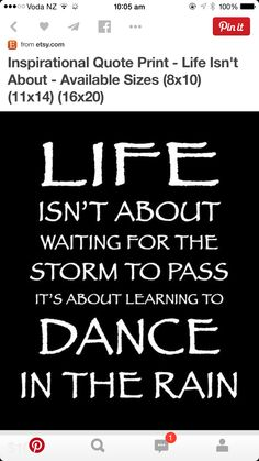 Dancing in the rain is the best.!