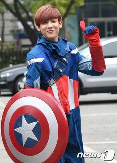 GOT7 BamBam as Captain America