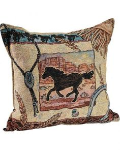 """Cheyenne"" Tapestry Pillow - Sheplers"