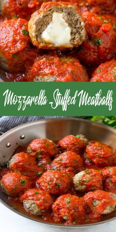Mozzarella Stuffed Meatballs - All About Health Food Recipes - All About Health . - My list of the most healthy food recipes Healthy Recipes, Gourmet Recipes, Dinner Recipes, Cooking Recipes, Stuffed Food Recipes, Dinner Ideas, Copycat Recipes, Yummy Recipes, Meat Recipes
