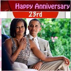 "#PresidentBarackObama and #MichelleObama #celebrated their #23rd #weddinganniversary on #Saturday  The two were married on Oct. 3, 1992, at Trinity United Church in Chicago. A year later, Michelle apparently forgot the couple's first wedding anniversary. First lady Michelle Obama and President Barack Obama have been married for over two decades. Over time, Michelle has said that she has learned to forgive some of the president's habits. ""What I've come to find is, you don't sweat the small s..."