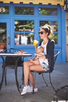 Mommy and baby casual photo idea