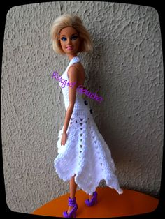 #Crochet  #Dress #Doll #Barbie #Vestido #Muñeca #Cléa5 #RaquelGaucha