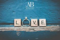 Engagement  Photography  Inspiration  | Have fun with how you use the engagement ring at your session! We used so scrabble tiles and some beautiful textured architecture in the French Quarter to spell out LOVE. I think the bright colors really made it pop!  Www.AllisonBadelyPhotography.webstarts.com    Www.facebook.com/AllisonBadelyPhotography