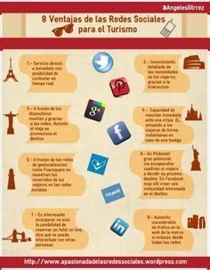 8 ventajas de las Redes Sociales para el Turismo / www.infografiasencastellano.com