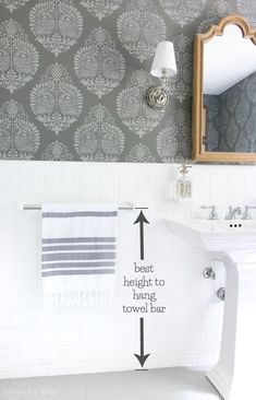 Inspirational Hand towel Ring Height