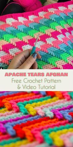 Apache Tears Afghan [Free Crochet Pattern and Video Tutorial]