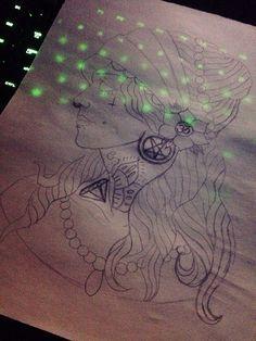 Gypsy version of me self lol with pentagram plugs