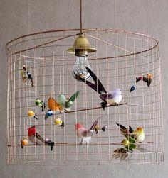 bird cage lamp shade