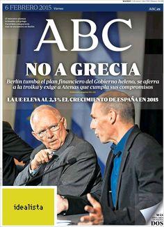 Diario ABC del 6 Febrero 2015 Recordar que puede visualizar las noticias en vídeo desde http://www.youtube.com/vendopor