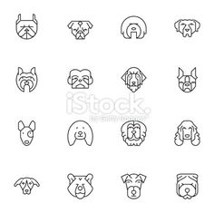 Dogs Head Icons | set 2