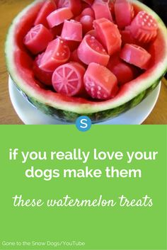 Watermelon treats are a healthy and tasty alternative to regular store-bought dog treats. Learn how to make them here.