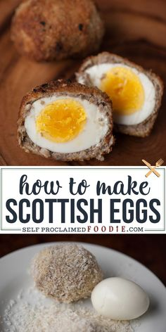 egg meals Scottish Eggs are a delicious take on breakfast. Egg wrapped in sage breakfast sausage, then dipped in egg, and then fried? Scottish Recipes, Irish Recipes, Egg Recipes, Kitchen Recipes, Cooking Recipes, Healthy Recipes, Healthy Food, Healthy Eating, Homemade Scotch Eggs