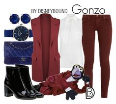 Gonzo by leslieakay on Polyvore featuring polyvore fashion style MICHAEL Michael Kors WearAll The Great Yves Saint Laurent Chanel Locman Bling Jewelry clothing disney disneybound disneycharacter
